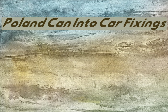 Poland Can Into Car Fixings Шрифта examples