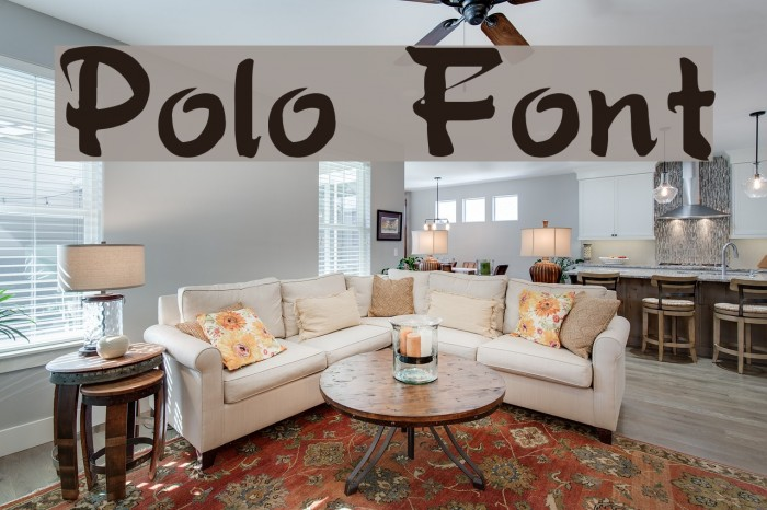 Polo Font examples