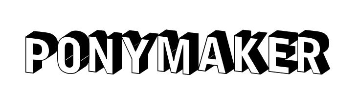 PonyMaker  Free Fonts Download