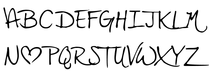 PopStar Autograph Font UPPERCASE
