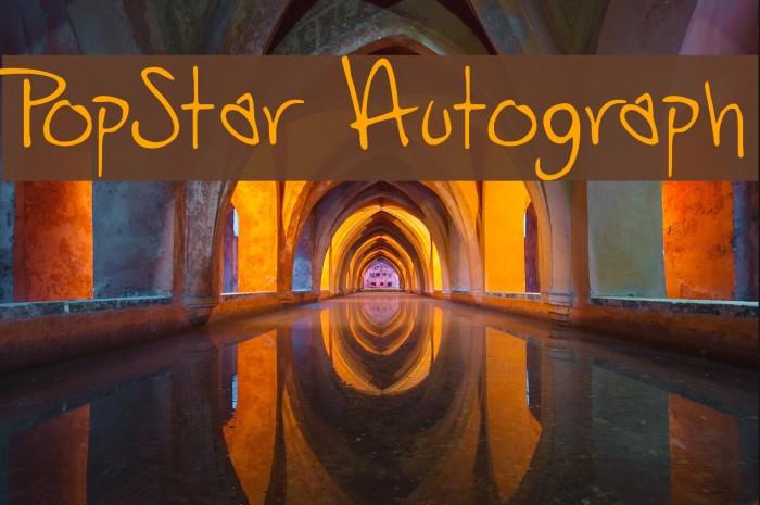 PopStar Autograph Font examples
