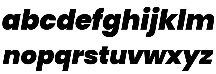 Poppins Black Italic Font LOWERCASE