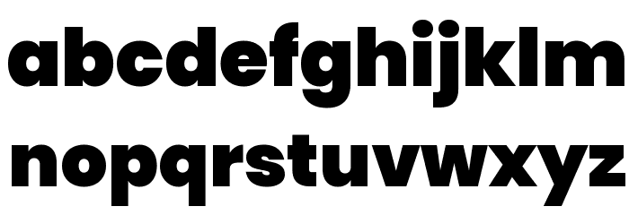 Poppins Black Font LOWERCASE