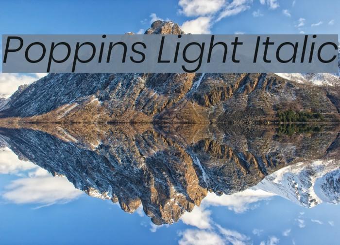 Poppins Light Italic Font examples
