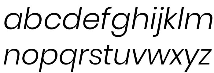 Poppins Light Italic Font LOWERCASE