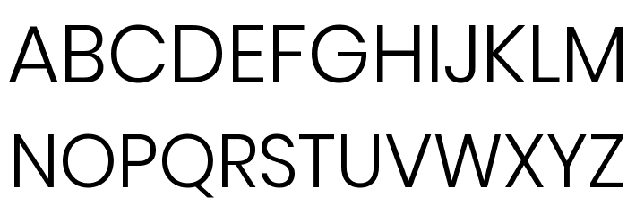 Poppins Light Font UPPERCASE