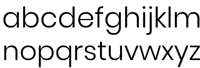 Poppins Light Font LOWERCASE