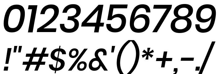Poppins Medium Italic Font OTHER CHARS