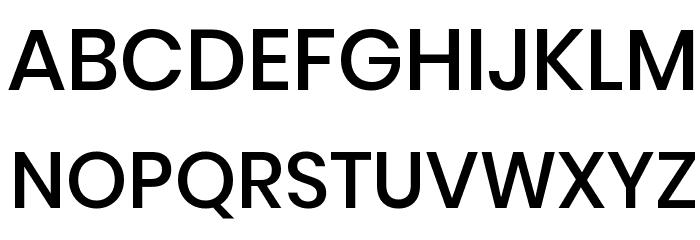Poppins Medium Font UPPERCASE