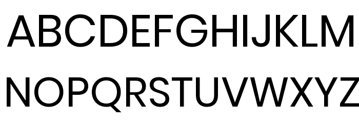 Poppins Regular Font UPPERCASE