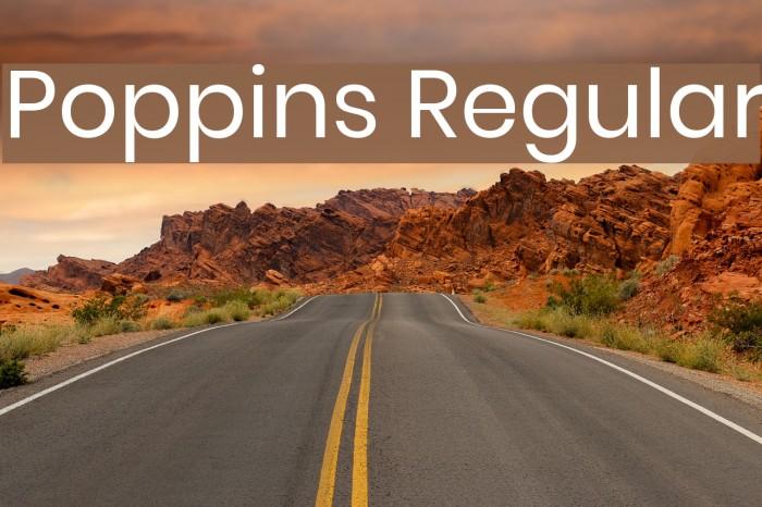 Poppins Regular Font examples