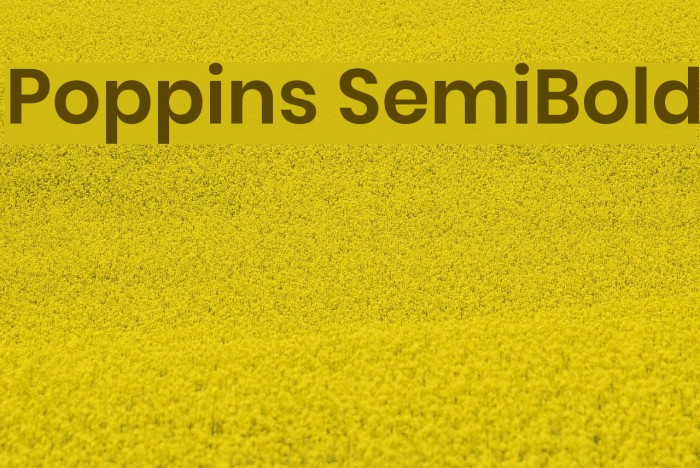 Poppins SemiBold Font examples