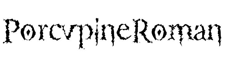 PorcupineRoman  لخطوط تنزيل