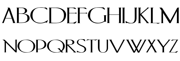 PortlandRoman Bold Font UPPERCASE