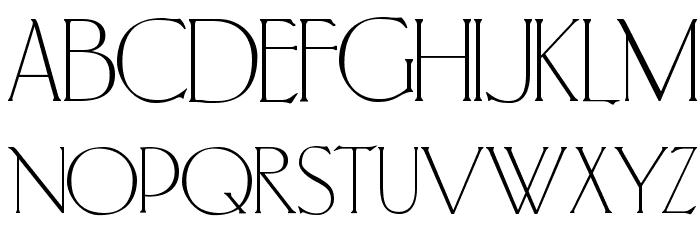 PortlandRoman Font UPPERCASE