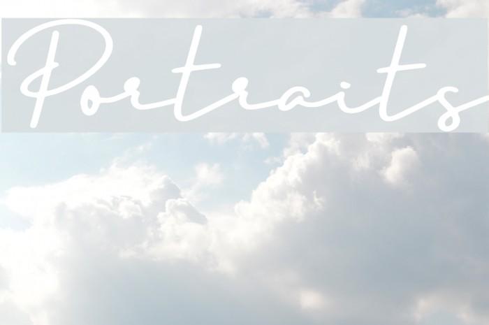 Portraits Font examples