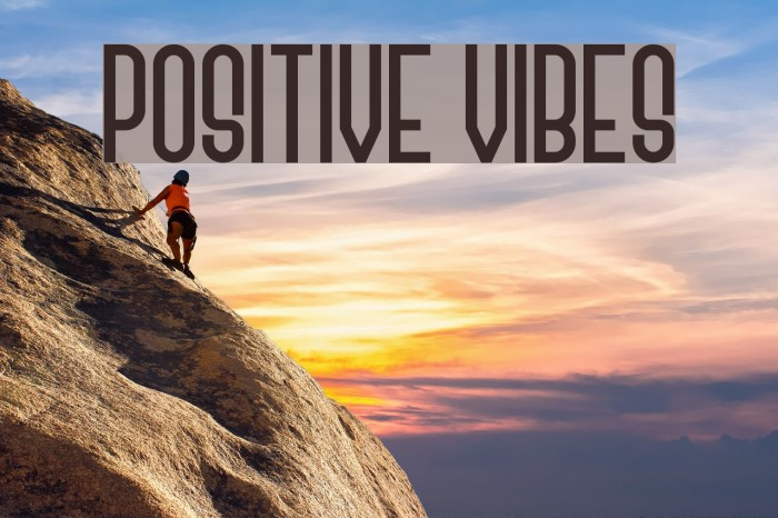 Positive Vibes फ़ॉन्ट examples