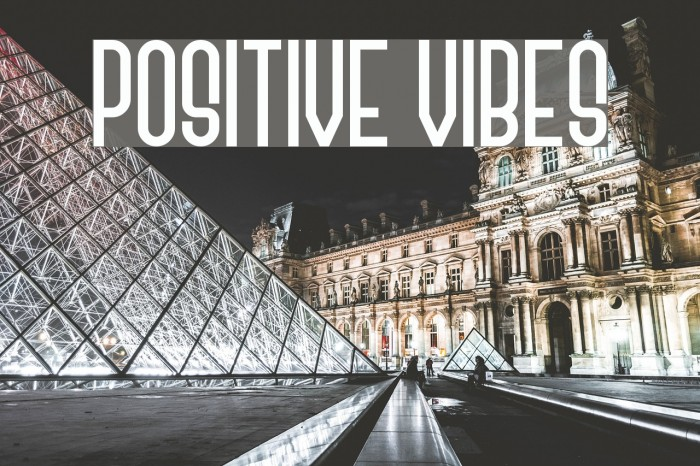 Positive Vibes Font examples