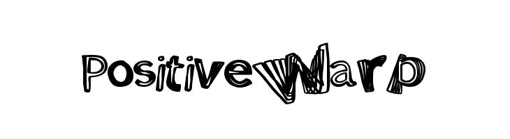 PositiveWarp Font
