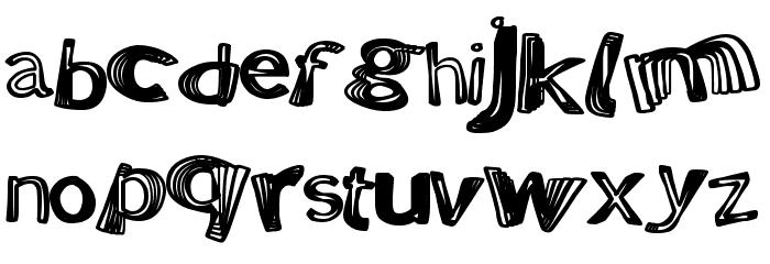 PositiveWarp Font LOWERCASE