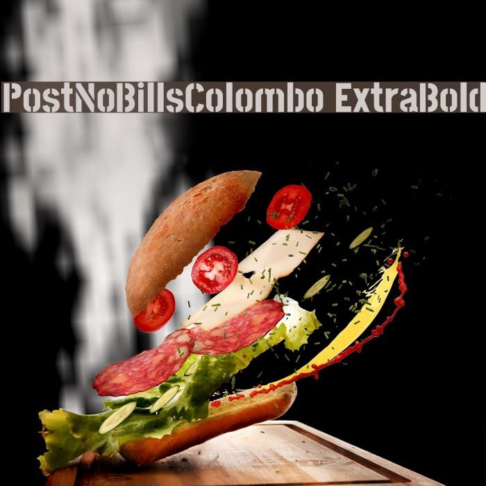 PostNoBillsColombo ExtraBold Fuentes examples