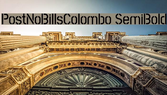 PostNoBillsColombo SemiBold Fuentes examples