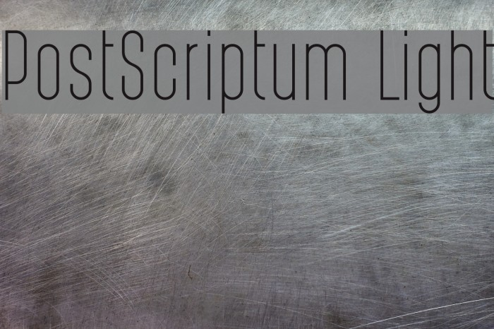 PostScriptum Light फ़ॉन्ट examples