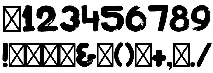 PostazBold-Regular Font OTHER CHARS
