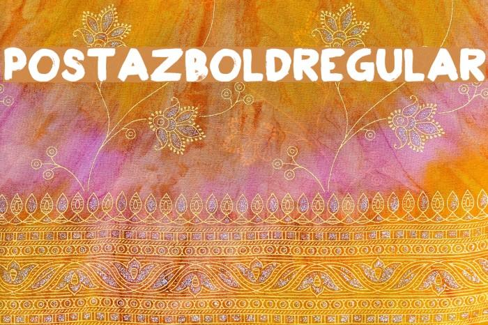 PostazBold-Regular Font examples