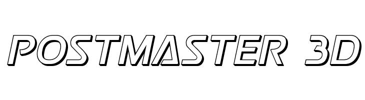 Postmaster 3D  baixar fontes gratis