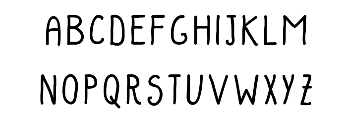 PotatoesAndPeasRegular Font LOWERCASE