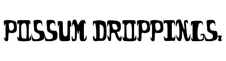 possum droppings.  免费字体下载