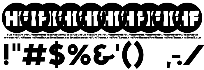 PRIMETIME Regular Font OTHER CHARS