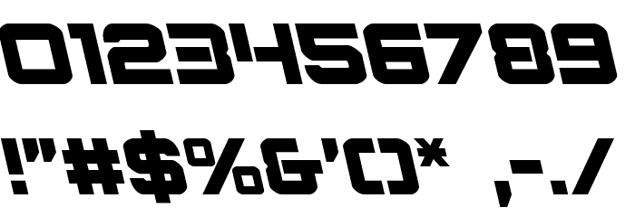 Praetorian Leftalic Шрифта ДРУГИЕ символов