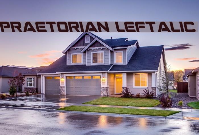 Praetorian Leftalic Шрифта examples