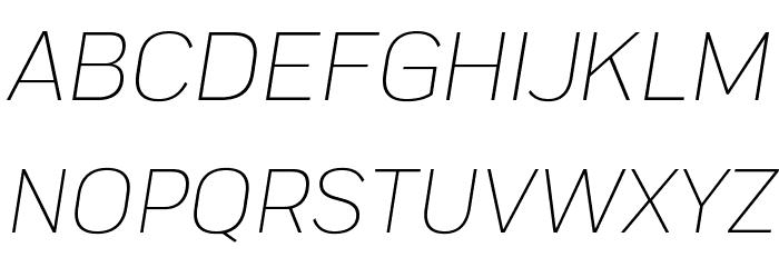 Praktika Light Italic 字体 大写