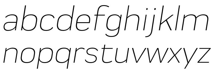 Praktika Light Italic 字体 小写