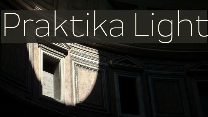 Praktika Light 字体 examples