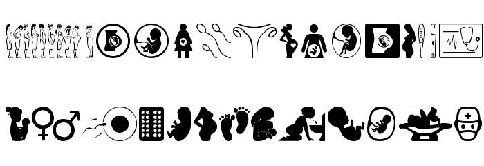 Pregnancy Font UPPERCASE