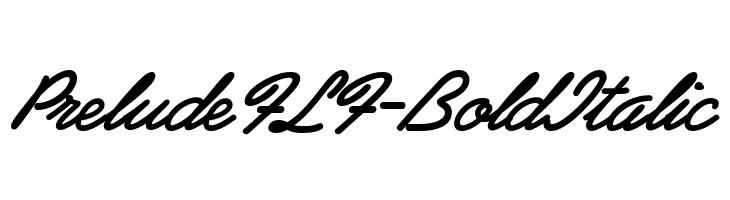 PreludeFLF-BoldItalic  font caratteri gratis