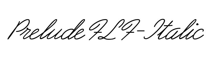PreludeFLF-Italic  les polices de caractères gratuit télécharger