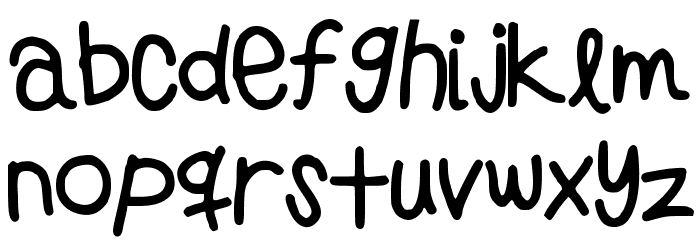 PreppyGirlsHandwriting Font LOWERCASE