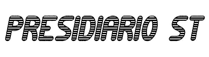 Presidiario St  免费字体下载