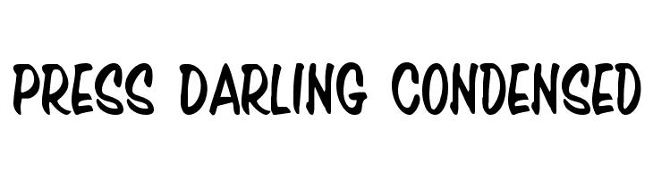 Press Darling Condensed  les polices de caractères gratuit télécharger