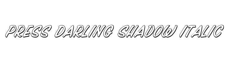 Press Darling Shadow Italic  les polices de caractères gratuit télécharger