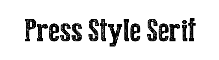 Press Style Serif  baixar fontes gratis