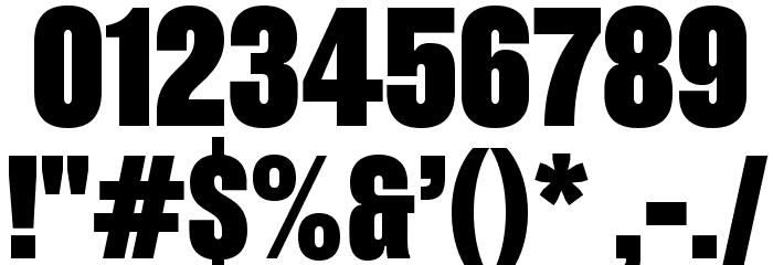 Pressuru Шрифта ДРУГИЕ символов