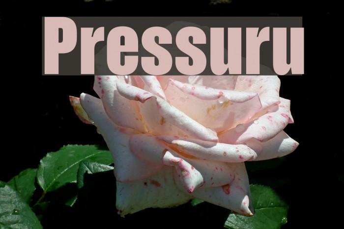Pressuru Font examples