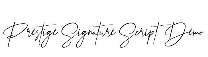 Prestige Signature Script - Demo  Descarca Fonturi Gratis