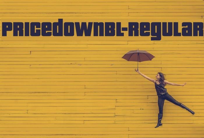 PricedownBl-Regular फ़ॉन्ट examples